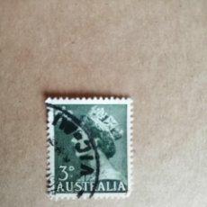 Sellos: AUSTRALIA - 3 D - REINA ISABEL II. Lote 189691028