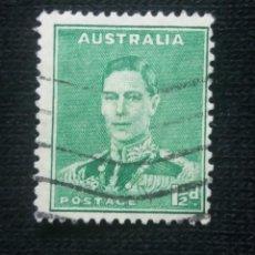 Sellos: POSTAGE AUSTRALIA, 1,1/2D, REY GEORGE VI, 1931. USADO.. Lote 191822205