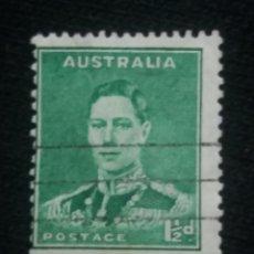 Sellos: POSTAGE AUSTRALIA, 1,1/2D, REY GEORGE VI, 1942. USADO.. Lote 191822278