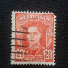 Sellos: POSTAGE AUSTRALIA, 2,1/2D, REY GEORGE VI, 1942. USADO.. Lote 191822406