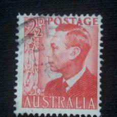 Sellos: POSTAGE AUSTRALIA, 2,1/2D, REY GEORGE VI, 1950. USADO.. Lote 191822492