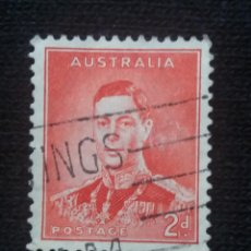 Sellos: POSTAGE AUSTRALIA, 2D, REY GEORGE VI, 1938. USADO.. Lote 191822640