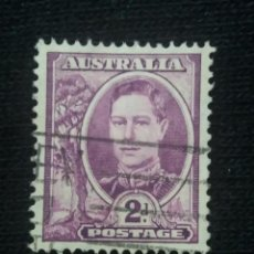 Sellos: POSTAGE AUSTRALIA, 2D, REY GEORGE VI, 1942. USADO.. Lote 191822706