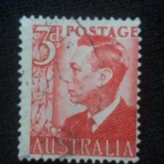 Sellos: POSTAGE AUSTRALIA, 3D, REY GEORGE VI, 1950. USADO.. Lote 191822805