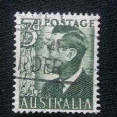 Sellos: POSTAGE AUSTRALIA, 3D, REY GEORGE VI, 1950. USADO.. Lote 191822855