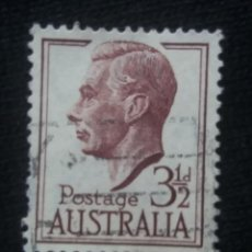 Sellos: POSTAGE AUSTRALIA, 3,1/2D, REY GEORGE VI, 1950. USADO.. Lote 191823223