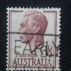 Sellos: POSTAGE AUSTRALIA, 3,1/2D, REY GEORGE VI, 1950. USADO.. Lote 191823465