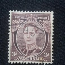 Sellos: POSTAGE AUSTRALIA, 3D, REY GEORGE VI, 1941. USADO.. Lote 191823578