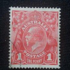 Sellos: POSTAGE AUSTRALIA, 1 PENNY, REY GEORGE V, 1919. USADO.. Lote 191824176