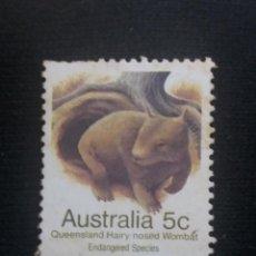 Sellos: POSTAGE AUSTRALIA, 5C, WOMBAT, 1981. NUEVO.. Lote 191830097