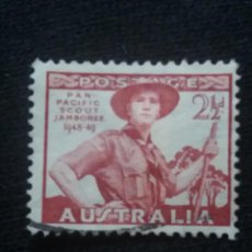 Sellos: POSTAGE AUSTRALIA, 2,1/2D, PAN PACIFIC SCOUT, 1952.. Lote 192000626