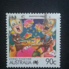 Sellos: POSTAGE AUSTRALIA, 60C , LIVING TOGETHER, 1988.. Lote 192002373