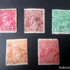 Sellos: AUSTRALIA, 1914/23, JORGE V, YT 20,22,24,25 Y 26. Lote 192226118
