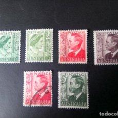 Sellos: AUSTRALIA 1950/52, ISABEL II Y JORGE VI, YT 171/173C. Lote 192236723