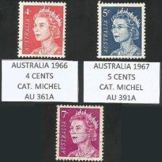 Sellos: AUSTRALIA VARIOS AÑOS - LOTE 3 SELLOS USADOS. Lote 193164662