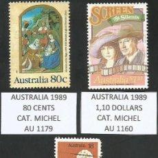 Sellos: AUSTRALIA VARIOS AÑOS - LOTE 3 SELLOS USADOS. Lote 193164796