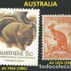 Sellos: AUSTRALIA 1938 Y 1981- 2 SELLOS - TEMA ANIMALES. Lote 194079163