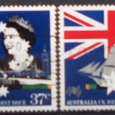 Sellos: AUSTRALIA BICENTENARIO DEL PAIS SERIE DE SELLOS USADOS. Lote 194676597