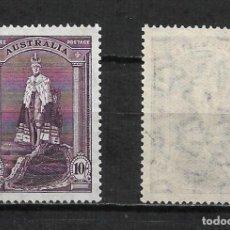 Sellos: AUSTRALIA 1938 SCOTT # 178 A33 10SH DL GRAY VIO 40 ** - 2/16. Lote 194951732
