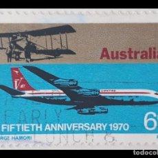 Sellos: AUSTRALIA - 1970- BOEING 707. Lote 195002026