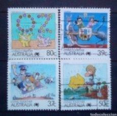Sellos: AUSTRALIA ANIMACIÓN SERIE DE SELLOS USADOS. Lote 195318432