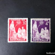 Sellos: AUSTRALIA 1958, NAVIDAD, YT 247/248. Lote 195843240