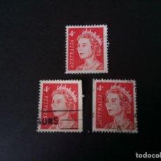 Sellos: AUSTRALIA, 1966, ISABEL II, DENTADO Y SIN DENTAR EN UNO DE LOS LADOS, YT 322. Lote 195851293