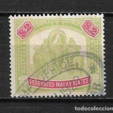Sellos: GRAN BRETAÑA MALAYA 1926 SCOTT 74 A3 $2 GRN & CAR - 15/37. Lote 197190597