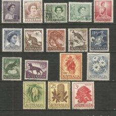 Sellos: AUSTRALIA YVERT NUM. 249/259 SERIE COMPLETA USADA. Lote 198305037