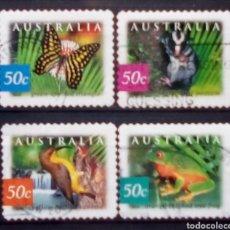 Sellos: FAUNA ENDÈMICA SERIE DE SELLOS USADOS DE AUSTRALIA. Lote 198528463