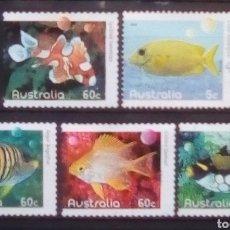 Sellos: PECES EXÓTICOS SERIE DE SELLOS USADOS DE AUSTRALIA. Lote 198529143