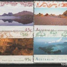 Sellos: LOTE Q - SELLOS AUSTRALIA NUEVOS PAISAJES SERIE COMPLETA. Lote 199198865