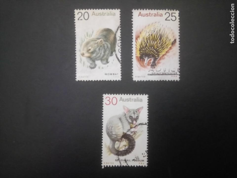 AUSTRALIA - 1974, FAUNA AUSTRALIANA, YT 527/529 (Sellos - Extranjero - Oceanía - Australia)