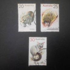 Sellos: AUSTRALIA - 1974, FAUNA AUSTRALIANA, YT 527/529. Lote 202760287
