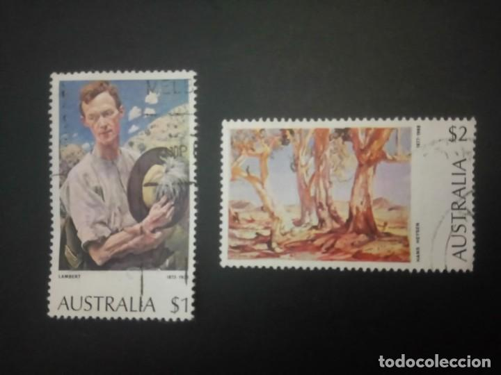 AUSTRALIA - 1974, CUADROS DE LAMBERT Y HEYSEN, YT 531/532 (Sellos - Extranjero - Oceanía - Australia)