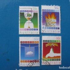 Sellos: +AUSTRALIA 1985, RIQUEZAS NATURALES, YVERT 907/10. Lote 205578513