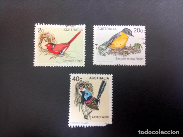 AUSTRALIA - 1979, PÁJAROS, YT 676,678,679, (Sellos - Extranjero - Oceanía - Australia)