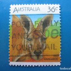 Sellos: +AUSTRALIA 1986, FAUNA AUSTRALIANA, CANGURO. Lote 206154372