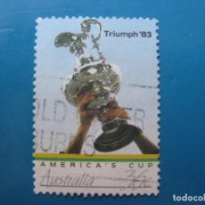 Sellos: +AUSTRALIA 1986, COPA DE AMERICA, EL TROFEO, YVERT 978. Lote 206155892