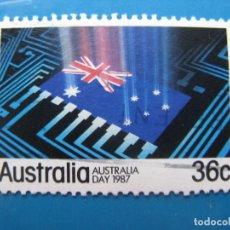 Sellos: +AUSTRALIA 1987, DIA NACIONAL, YVERT 984. Lote 206157595
