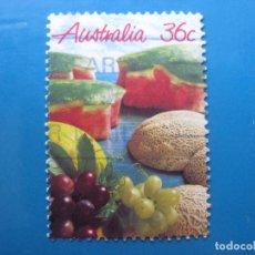 Sellos: +AUSTRALIA 1987, FRUTAS, YVERT 990. Lote 206157848