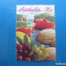 Sellos: +AUSTRALIA 1987, FRUTAS, YVERT 990. Lote 206157950