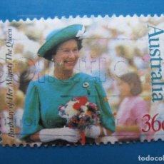 Sellos: +AUSTRALIA 1987, 61 ANIVERSARIO DE ISABEL II, YVERT 998. Lote 206158297
