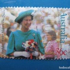 Sellos: +AUSTRALIA 1987, 61 ANIVERSARIO DE ISABEL II, YVERT 998. Lote 206158390