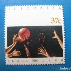 Sellos: +AUSTRALIA 1988, JUEGOS OLIMPICOS DE SEUL, YVERT 1094. Lote 206249233