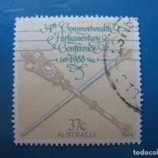 Sellos: +AUSTRALIA 1988 CONFERENCIA DE LA COMMONWEALTH, YVERT 1097. Lote 206251240