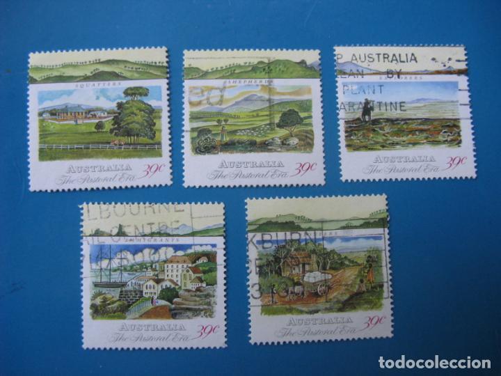 +AUSTRALIA 1989, DESARROLLO COLONIAL, YVERT 1113/17 (Sellos - Extranjero - Oceanía - Australia)