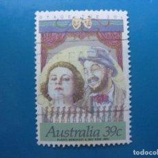 Sellos: +AUSTRALIA 1989, ACTORES DE CINE Y TEATRO AUSTRALIANOS, YVERT 1118. Lote 206380792