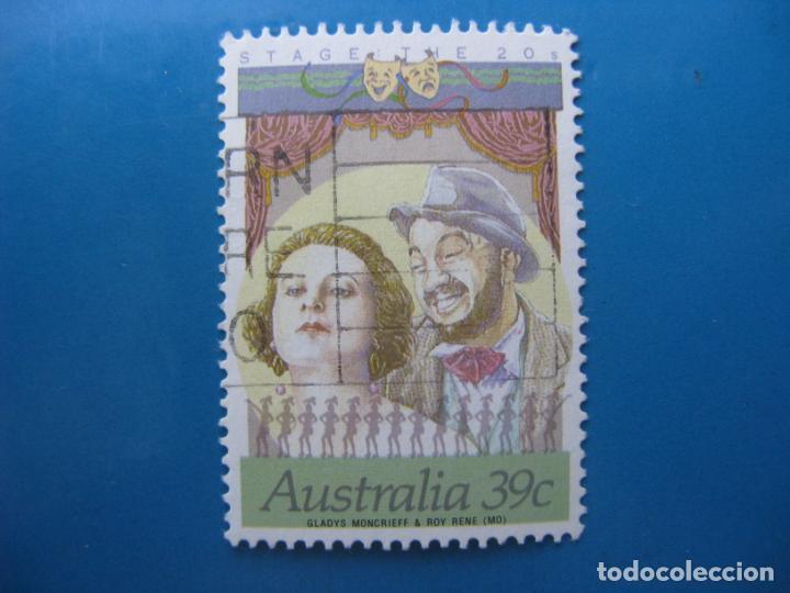 +AUSTRALIA 1989, ACTORES DE CINE Y TEATRO AUSTRALIANOS, YVERT 1118 (Sellos - Extranjero - Oceanía - Australia)