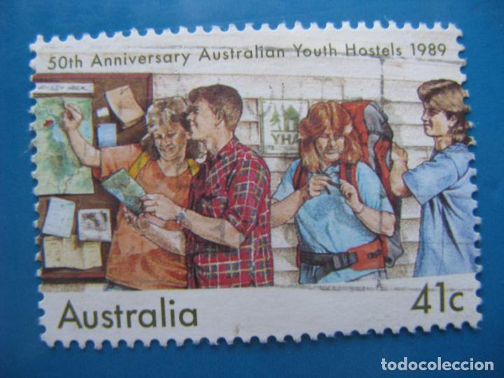 +AUSTRALIA 1989, 50 ANIV. ALBERGUES JUVENILES, YVERT 1127 (Sellos - Extranjero - Oceanía - Australia)